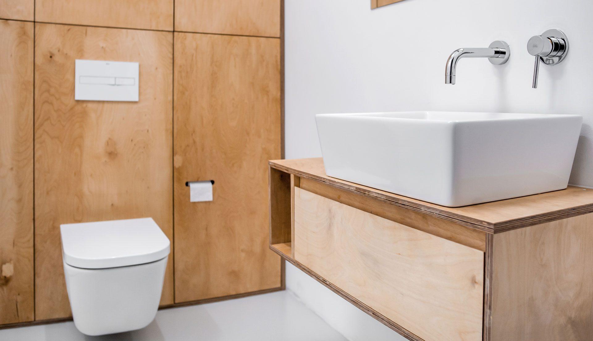Elegancka prosta łazienka